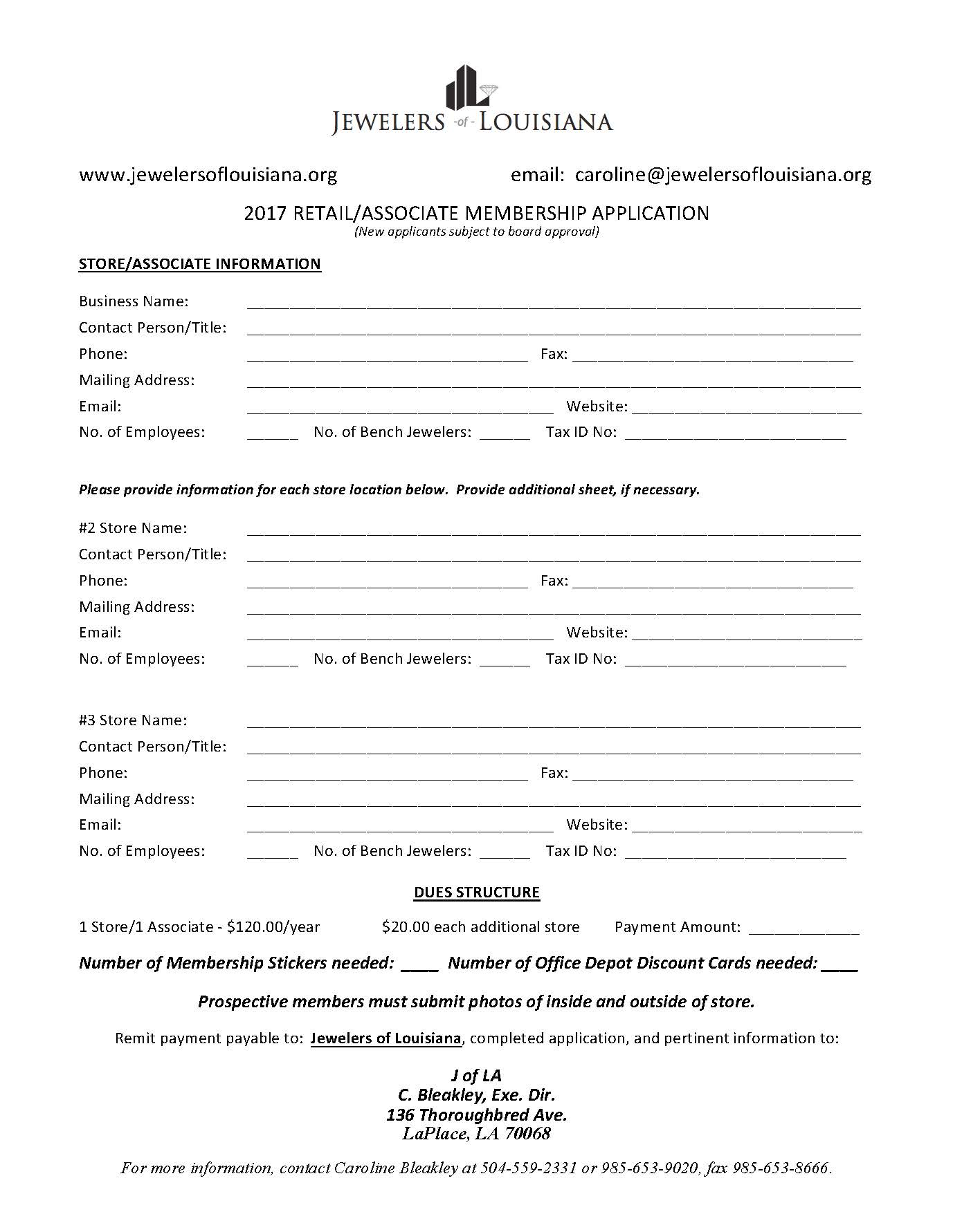 MEMBERSHIP APPLICATION 2017